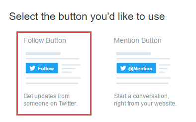 Twitter create Follow Button
