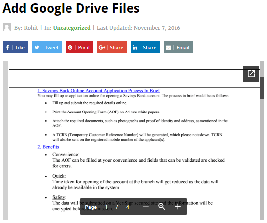 embed google drive file wordpress