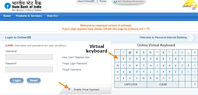 How to get sbi internet banking user id and password online