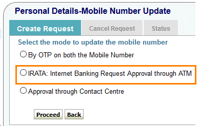 onlinesbi change mobile number