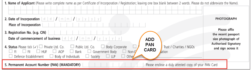 sbi kyc form