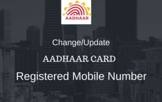 Online Change/Update Aadhaar Card Registered Mobile Number