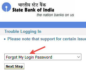 sbi netbanking password reset using atmcard