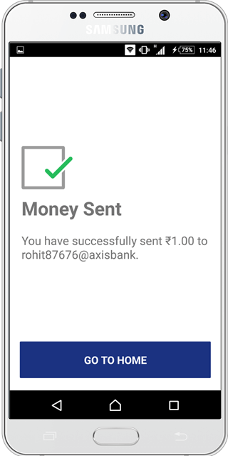BHIM upi app send money