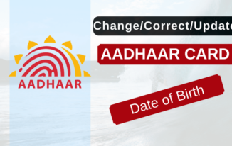 Online Change/Update/Correct Aadhaar Card Birth Date