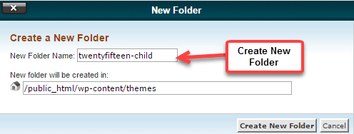 cpanle file manager create folder
