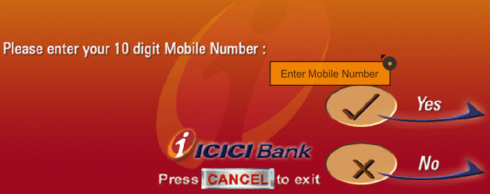 icici change mobile number