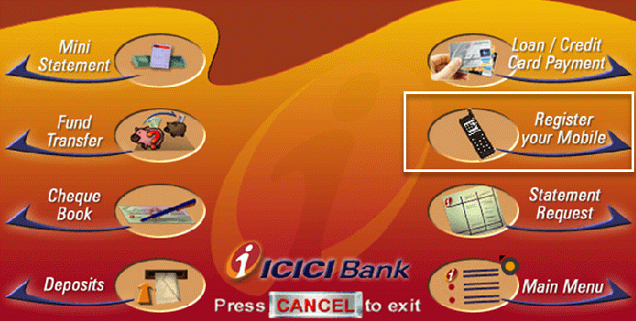 icici bank change mobile number