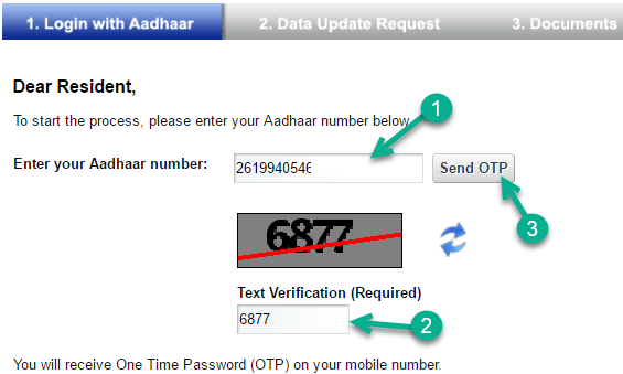 update change aadhaar card address