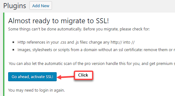 really simple ssl plugin migrate http to https