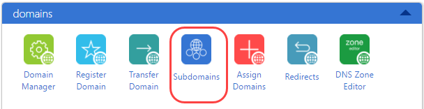 create subdomain