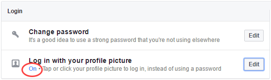 facebook login with profile picture