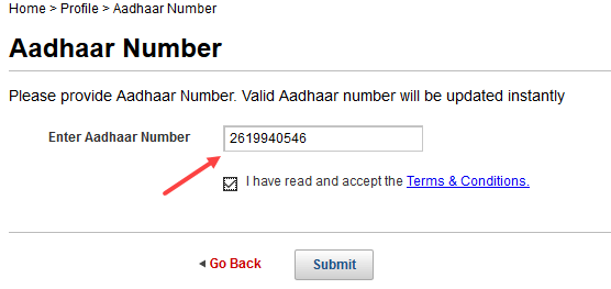 link aadhaar card kotak bank account