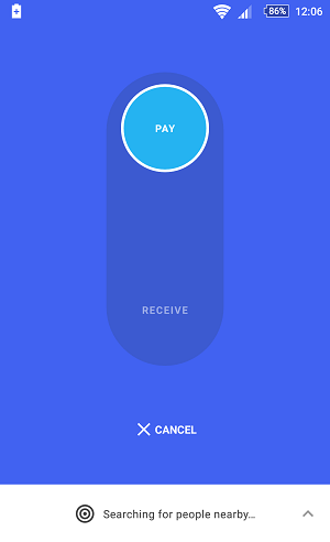 Google Tez cash on Mode