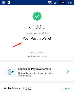 add money paytm sbi account