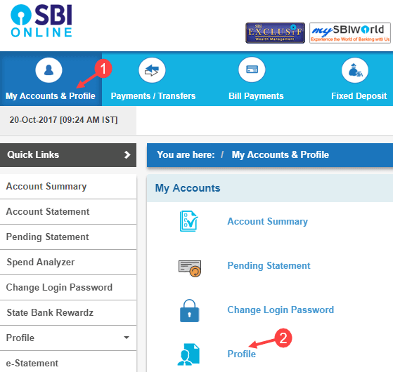 sbi email register