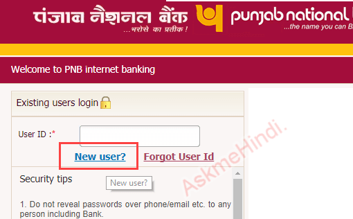 punjab national bank netbanking registration/activate online