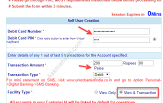 Internet banking login in union bank of india