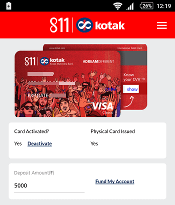 kotak 811 account access online