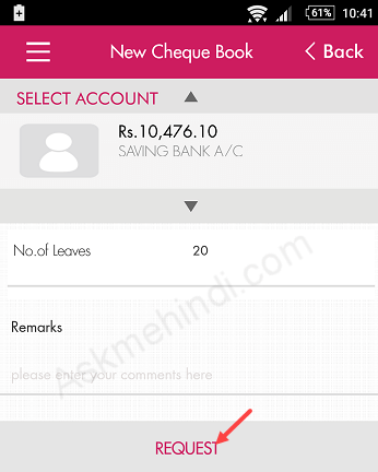 axis bank cheque book online order