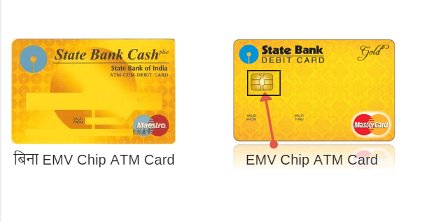 SBI EMV Chip vs Magnetic Strip card