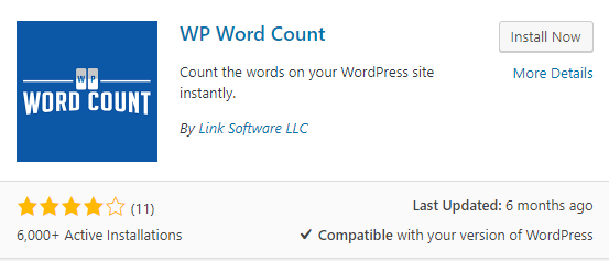 Count wordpress post words